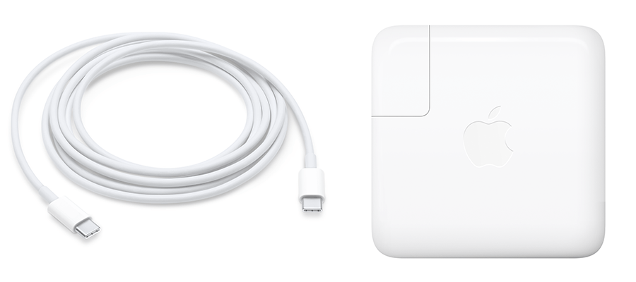 61W USB-C power adapter and USB-C charge cable