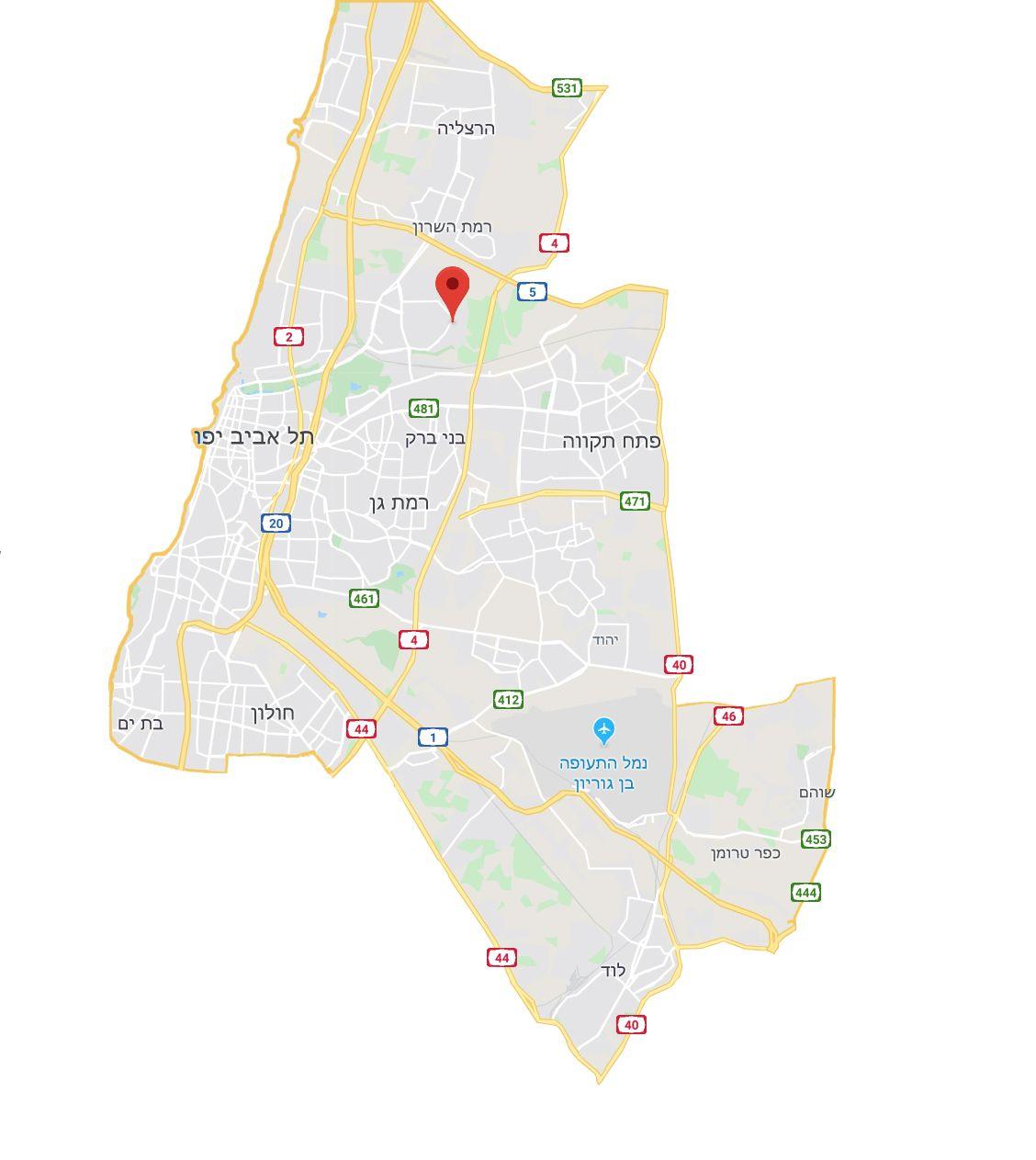 מפת חלוקה אמירים אקספרס